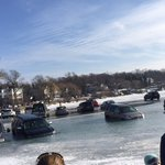 BREAKING NEWS: About 20 cars have fallen in the lake in Lake Geneva Bay in front of Ginos East. #FIBSAtThierFinest https://t.co/Dd1Cs8th8j