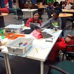#Chicago youth learning and working on #Robotics projects for their April competition led by our member Linda! https://t.co/w91bYfUwPJ