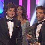 .@pabloalboran y @LucasVidalmusic recogen el premio a Mejor Canción por #PalmerasEnLaNieve https://t.co/vmEiRMirNO https://t.co/Fd3HAOQ3cL