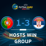 Huge roar on final whistle. Serbia win Group A and play Ukraine in Mondays QFs, then its Spain v Portugal! https://t.co/3TUa8BWz7I