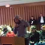#Ferguson resident pulls up hoodie, says he doesnt care what cost, consent decree end racial profiling. @kmoxnews https://t.co/LwhzHjtrmm