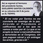 Guillermo Santos C. (oponerse al terrorismo no es ser guerrerista sino ser serio con la paz) https://t.co/xddHpmpQsX