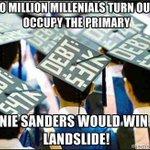#SixWordBernieStory High millennial turnout elects Bernie Sanders. https://t.co/3SzfxJWl8W #NotMeUs https://t.co/or1kP3dy9L