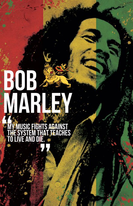Happy birthday Bob Marley, how I would have loved to have experienced your music live