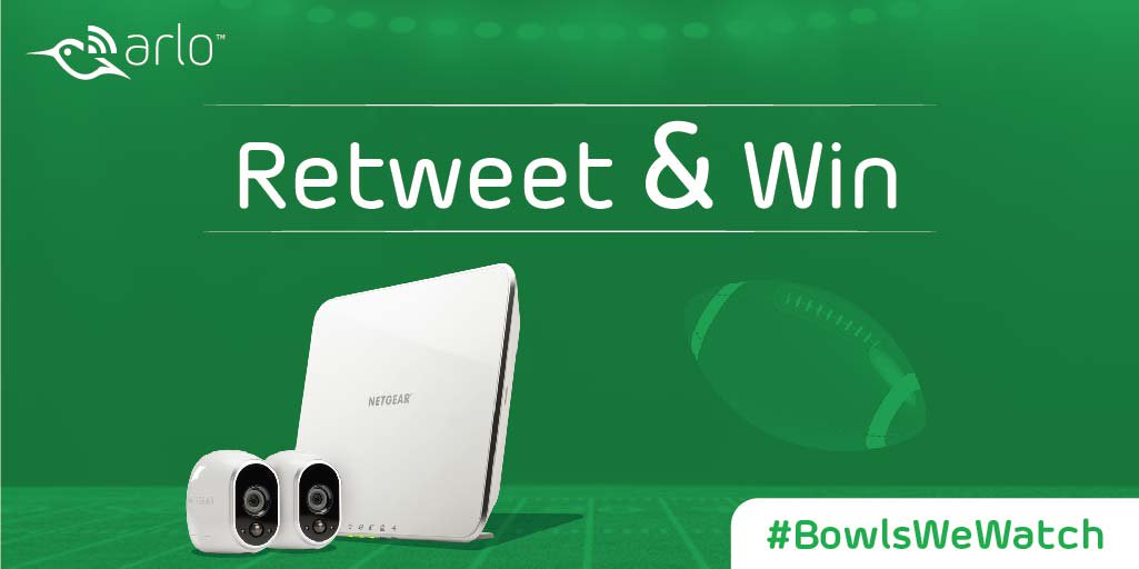 Need the perfect defense for every play? Win an Arlo & put it in the game. Contest starts Sunday #BowlsWeWatch #SB50 https://t.co/xDi6MQw6v8