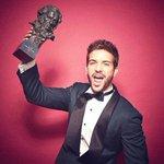 """.@pabloalboran feliz y emocionado con su #Goya como """"Mejor canción original"""" #PalmerasEnLaNieve #GoyasPabloAlboran ???? https://t.co/rFDf9JmCxS"""