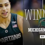 On ???? Bryn Forbes goes OFF in the first half hitting seven 3's, propelling No. 10 Michigan St. past Michigan, 89-73! https://t.co/N8kXRjYNic