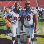 Me and the GOAT himself reppin UMD out in Cali #BroncosCountry #SuperBowl50 https://t.co/vB3FdZx0dW