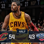 .@KyrieIrving (19PTS, 3-5 3PM) & @TheRealJRSmith (12PTS, 4-7 3PM) are ???? up! #CavsPelicans: https://t.co/Am7DaqWJDa https://t.co/1z1bsTWx1W