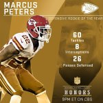 2015 Defensive Rookie Of The Year: @Chiefs DB @marcuspeters! #NFLHonors https://t.co/hmApfF9JJd