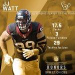 WATT! 2015 Defensive Player Of The Year: @HoustonTexans DE @JJWatt! #NFLHonors https://t.co/uMEay2I69t
