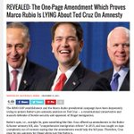 Marco Rubio joined with the democrats to pass pro-Amnesty Gang of 8 Bill. Facts Marco. Facts. #GOPDebate #NHprimary https://t.co/hLYuYhx9mc