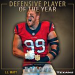 His 3rd in 4 seasons. Congratulations @JJWatt! The 2015 Defensive Player of the Year! #NFLHonors https://t.co/3mijYXrg5v