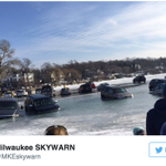Early details on the cars-through-the-ice situation in Lake Geneva. Photo via @MKEskywarn https://t.co/W381RTSQXX https://t.co/vXLEIL8lvB