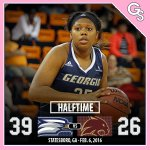 WBB - After the 1st half, your Georgia Southern Eagles lead the Texas State Bobcats 39-26! #GATA #AllforOne https://t.co/guYDq2Otsy