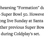 """.@Beyonce reportedly rehearsing """"Formation"""" for SB halftime show, according to @RollingStone https://t.co/oNzZd2m0JR https://t.co/KuPYMKlOOh"""