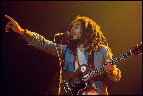 Wishing a happy birthday to our star Bob Marley. One love - forever. (Photo by Kate Simon)