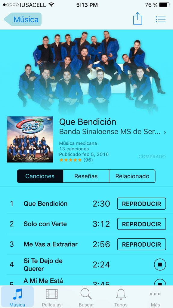 Ya comprado Mi Disco nuevo de @BANDA_MS @ANDRESBANDAMS @sergiolga_ms a escucharlo !!cómprenlo!! Vale la pena !! https://t.co/sqLozSkCCC