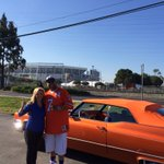 Quincy Harding is a @Broncos super fan! He had his car shipped to CA from Colorado Springs. #Broncos @KRDONC13 https://t.co/x7T2QZwXoz