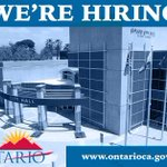 As a full service City, Ontario offers a broad range of career opportunities. More info -> https://t.co/mEH8dMAExp https://t.co/bG3BxTCtpP