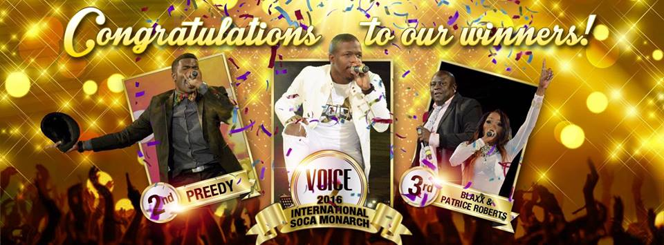 "Congratulations to Aaron ""Voice"" St Luis - 2016 International Soca Monarch https://t.co/Svoyrfirsm"