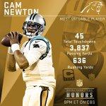 CAAAAAAAAAAAAAMMMM!  Congratulations, @CameronNewton! M-V-P! #NFLHonors https://t.co/qmCij46RBW