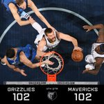 All knotted up at 102, we are headed to overtime w/ the #Mavs! https://t.co/GRa7oDz4Sj