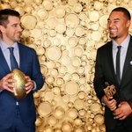 The Rodgers-to-Rodgers connection. #NFLHonors #GoPackGo https://t.co/eW4Qh95TJj