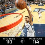 #Grizzlies fall to the #Mavericks in OT, 114-110. Barnes finishes w/ 17pts 11reb 5ast 1blk https://t.co/vJJyMtiEjx