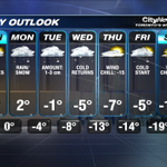 Remember winter, snow and cold temps-- well that returns this week. Heres your 7 day #Toronto forecast. #citywx https://t.co/Y1TquOJKwR