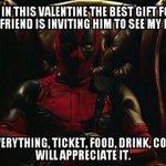 Deadpools Valentine Advice https://t.co/ijDn0lPXtu https://t.co/RlM2mxCkqs