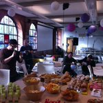 Setting up todays #RefugeesFundraiser at Impact Hub #Birmingham, for @Care4Calais. https://t.co/KDE0yYRkON