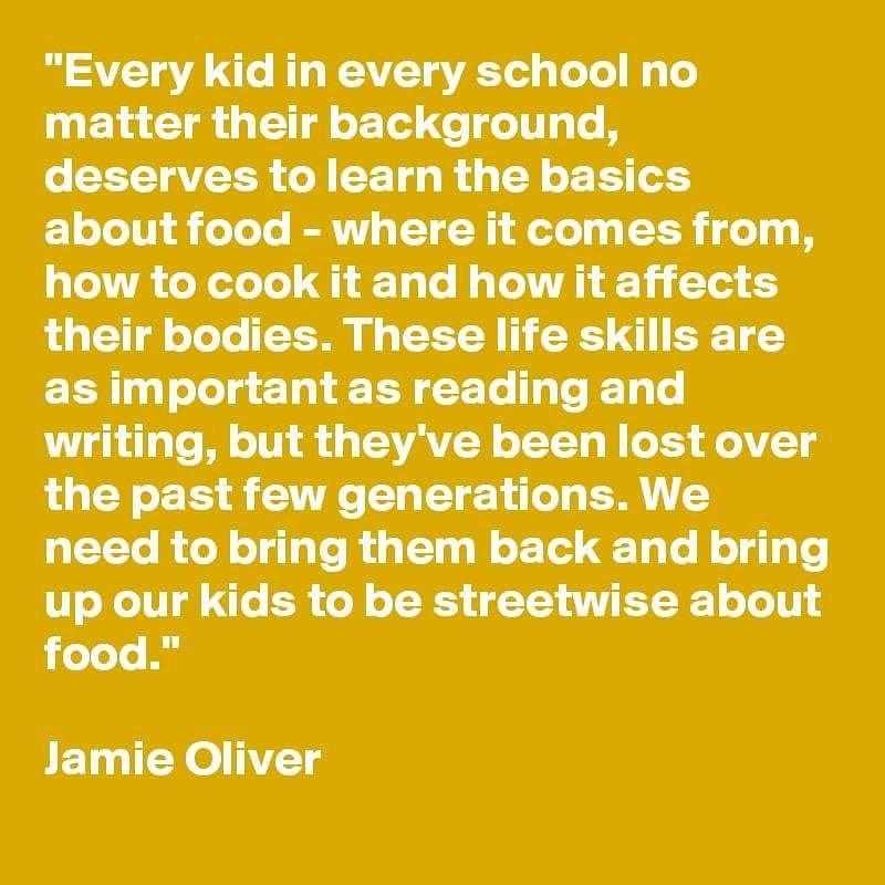 RT @TheHomeEcRoom: @jamieoliver we agree! Make #homeeconomics compulsory ???? https://t.co/atPJGXhE1H