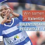 RT en win! 2 kaarten #zwofey oost-tribune, bos rozen @BloemistZwolle & diner @Rest_Bluefinger! #peczwolle #valentijn https://t.co/4pteJ7CUnn