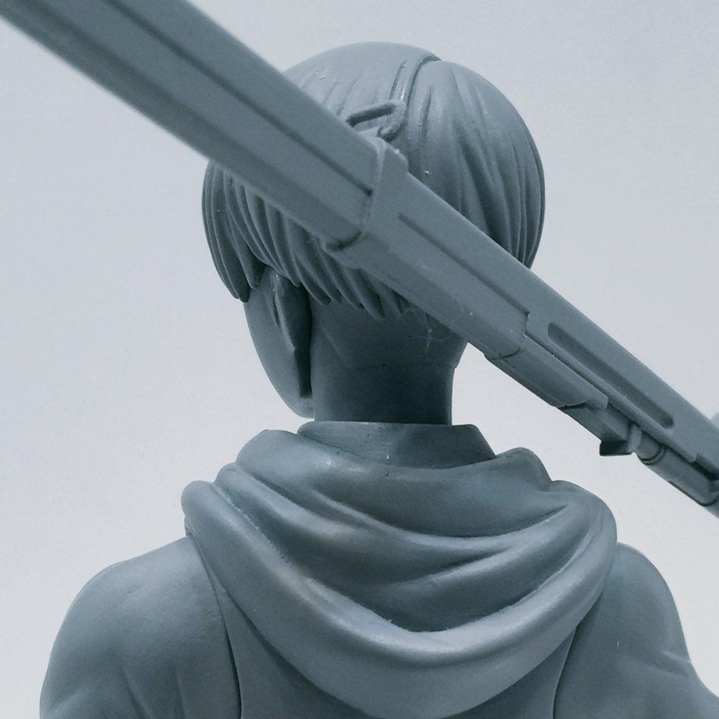 BRAVE-ACT 1/8リヴァイ 原型制作:石山裕記 原型進行中〜 #wf2016w  #千値練 #進撃の巨人