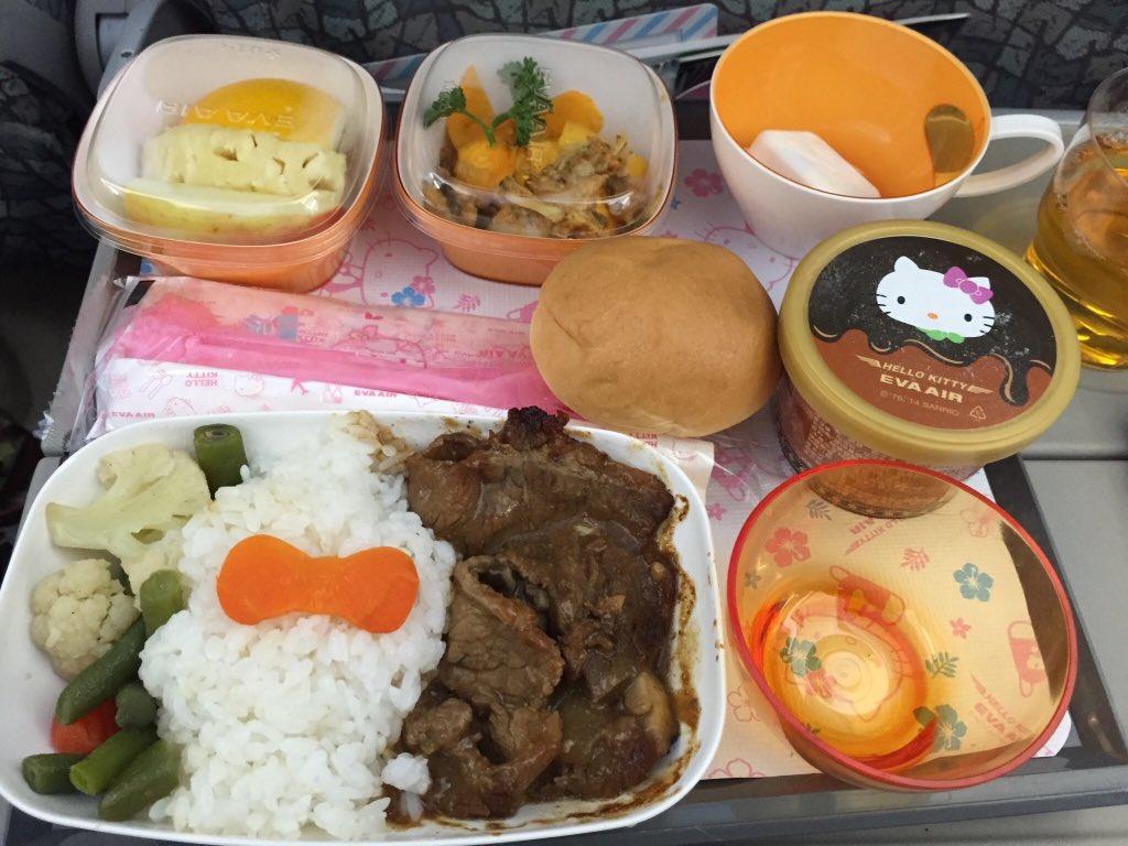 EVA航空キティ便の大人さま用ランチ! https://t.co/twY9eJbJ5h
