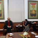 Moving forward our engagement with Nepal. EAM @SushmaSwaraj meets with Finance Minister Bishnu Poudel https://t.co/ZgWFJQiRKO