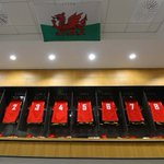Dressing room at the Aviva Stadium ready and waiting the squad's arrival #iamwales https://t.co/aAtPBHTD9D