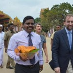 At Nallur Kovil in #Jaffna earlier today with @UNHumanRights Chief #Zeid, during his first visit to #SriLanka https://t.co/whUnwK2SaF