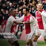 #Ajax wint de Klassieker dankzij wereldgoal Riechedly Bazoer! #ajafey #wijzijnajax https://t.co/AaMXfTAb6a