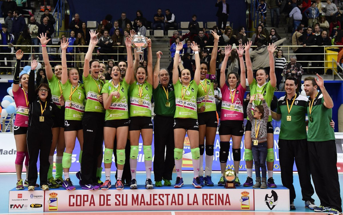 Naturhouse Ciudad Logroño @VoleibolLogrono se proclama campeón de Copa de la Reina. #CopaSFV https://t.co/NKzPcbaE7K https://t.co/CrAUQBkDgg