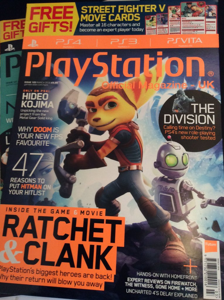 Four days to go! Who's excited for the next issue? #ratchetandclank @RatchetMovie @insomniacgames #StreetFighterV https://t.co/AuzI5nSTuM
