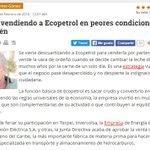 Están vendiendo a @Ecopetrol en peores condiciones que Isagén. Los invito a leer mi columna https://t.co/A0xwPqB26R https://t.co/sGpoc4I60t