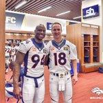 Super Bowl Sunday. Team captains. Ready to go to work. #Broncos #SB50 https://t.co/3podIUlvEt