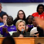 Hillary Clinton diverts to Flint to show support https://t.co/F53y5SxZWZ   AP Photo https://t.co/IP19FtfyVY
