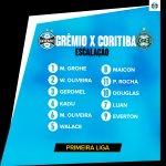 #Grêmio escalado! Pra cima deles, Tricolor! #PrimeiraLiga #VamosTricolor #GRExCTB https://t.co/Qu7Vf2kCpz