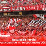 Final del Primer Tiempo: #Independiente y @Belgrano empatan 0 a 0. #VamosRojo https://t.co/adRSN4zEJh