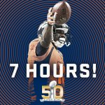 7 hours and counting! #SB50 is SOON! #CARvsDEN #Broncos #KeepPounding https://t.co/w3Jw24AbAH