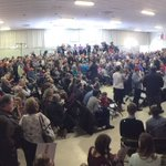 Crowd for Rubio in same room Jeb had a town hall in yesterday, at McKelvie Intermediate in Bedford https://t.co/hZ54bO2kjG