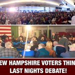 2 pictures telling you what #NewHampshire voters think about last nights #GOPDebate! (And why Christie is so angry) https://t.co/67SiSGiH6g